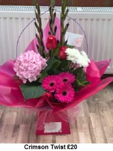 Crimson Twist| Florists Widnes | Flowers by Carol