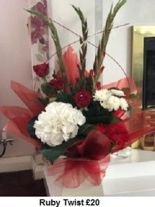 Ruby Twist 2| Florists Widnes | Flowers by Carol