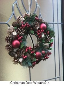 Christmas Door Wreath| Florists Widnes | Flowers by Carol