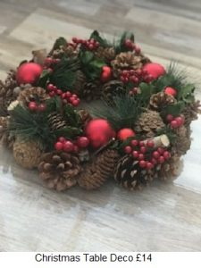 Christmas Table Deco| Florists Widnes | Flowers by Carol