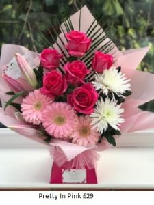 Pretty In Pink| Florists Widnes | Flowers by Carol