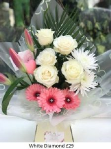 White Diamond| Florists Widnes | Flowers by Carol