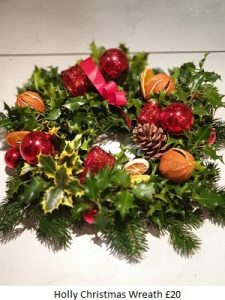 Holly Wreath| Florists Widnes | Flowers by Carol